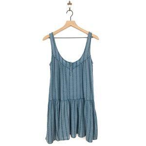 Urban Outfitters Ecote Daisy Tank Mini Dress Blue